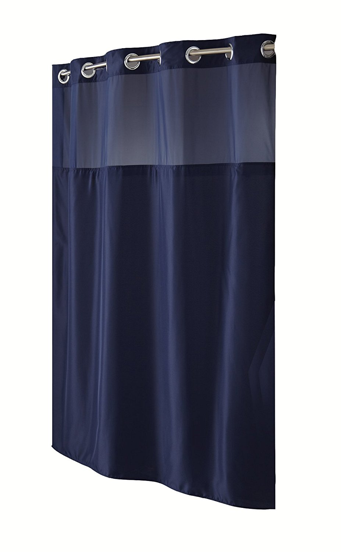 hookless navy mystery polyester shower curtain walmart com