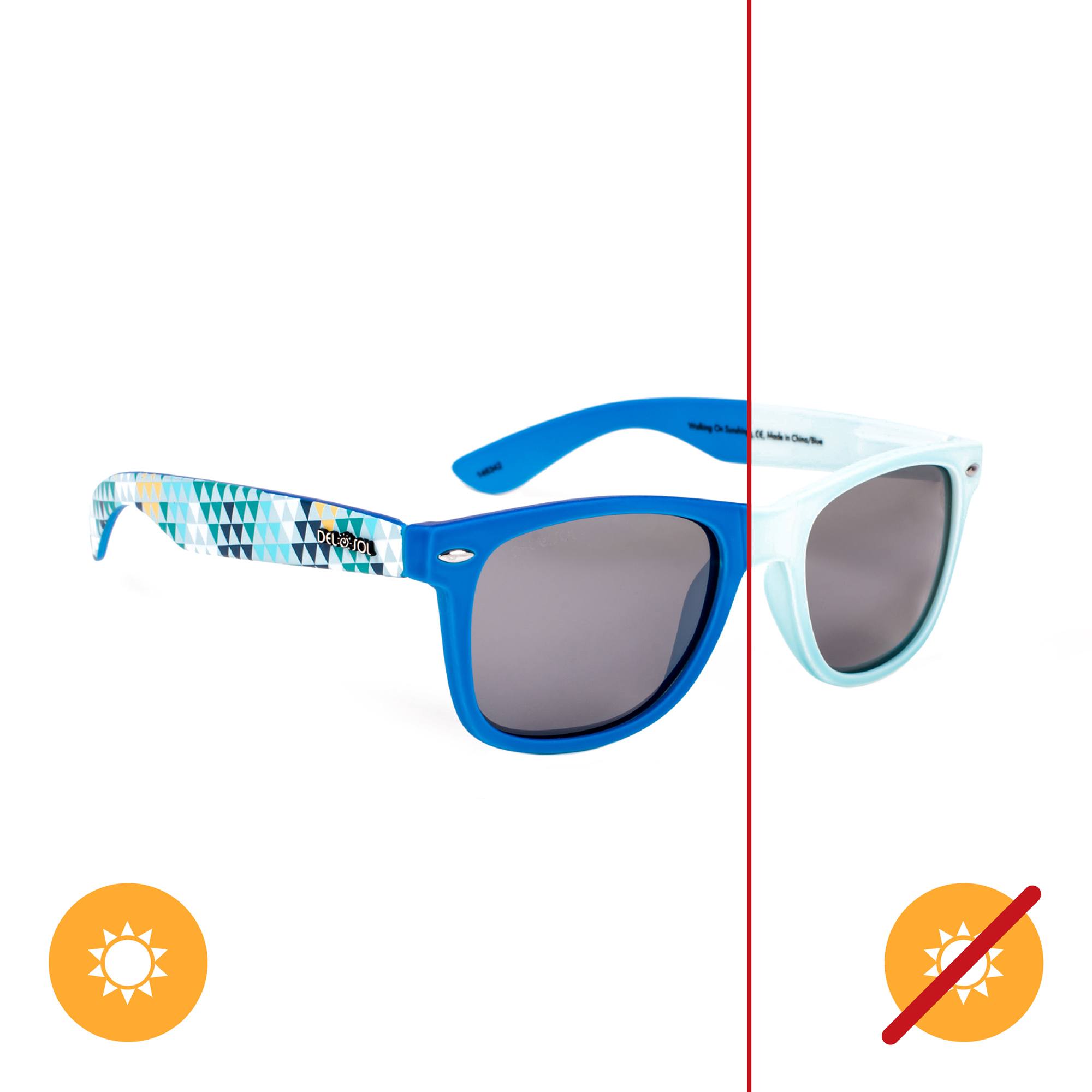 Del Sol Solize Color-Changing Unisex Sunglasses - Walking ...