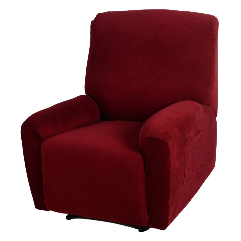 slipcover recliner sofa bryant ii leather power reclining reviews zimtown stretch couch protector cover machine washable wine red