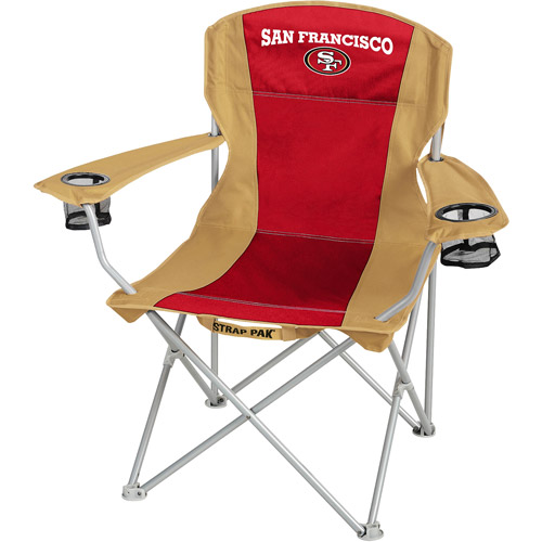 San Francisco 49ers  Folding Tailgate Chair  Walmartcom