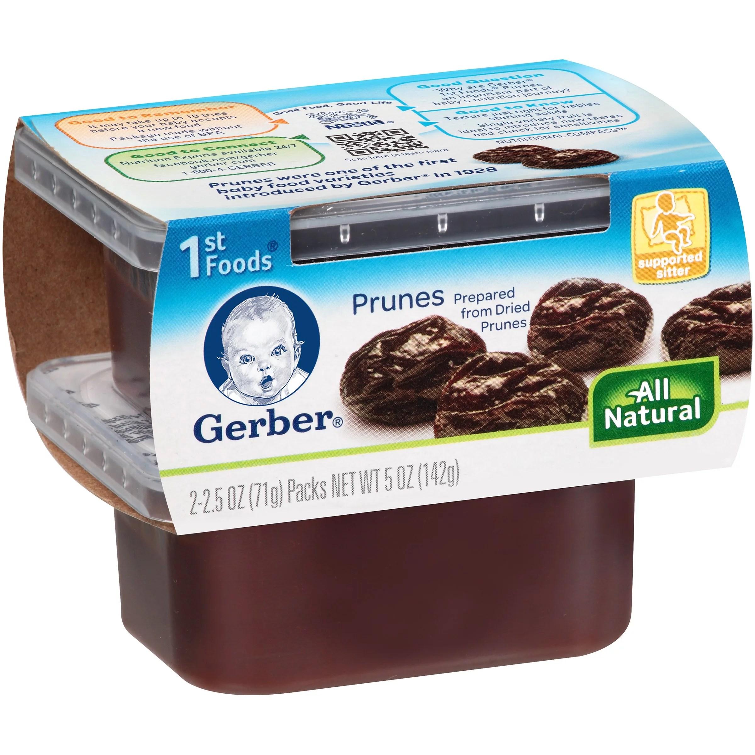 Gerber 1st Foods Prune 2.5 Oz 2 Ct - Walmart.com