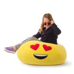 Soft Bean Bag Chairs Glider Chair On Sale Emoji Emoticon Comfortable Sofa Seat