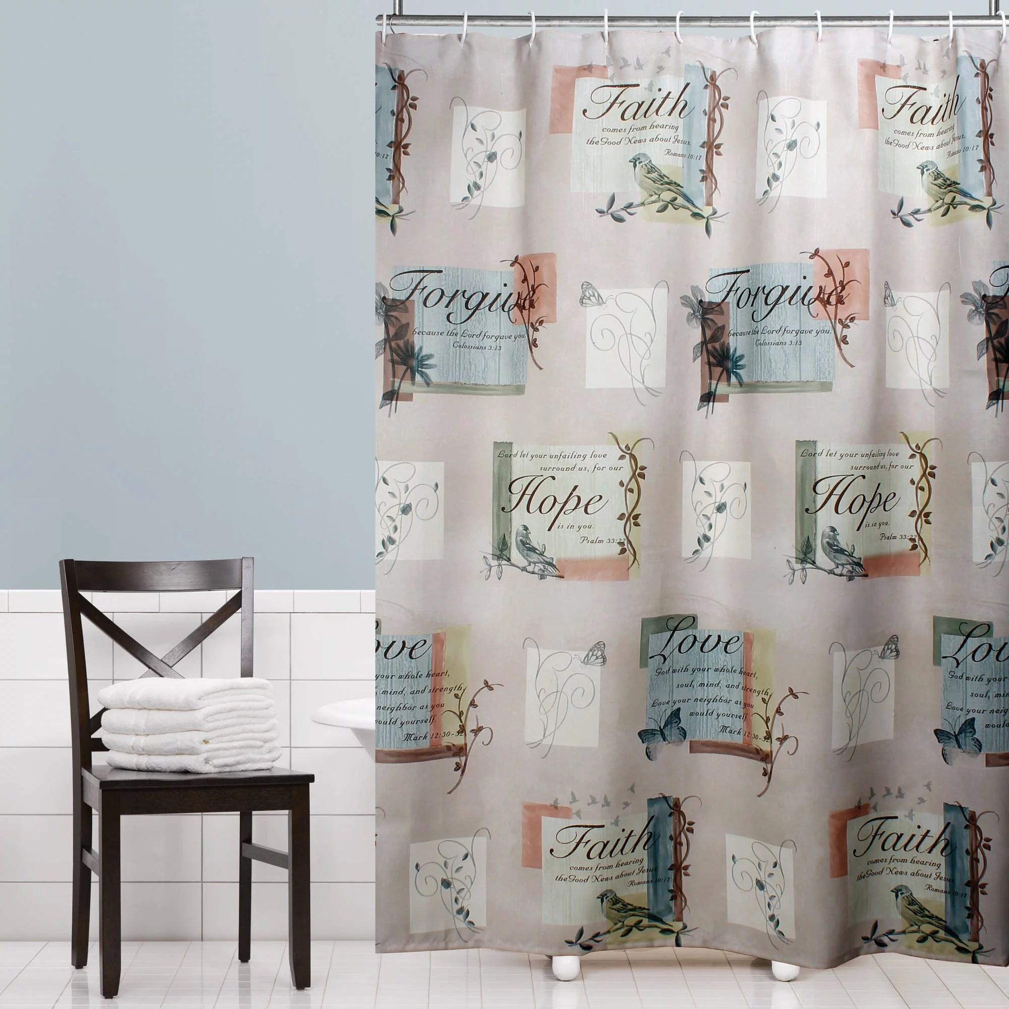 mainstays 70 x 72 hopeful polyester shower curtain walmart com