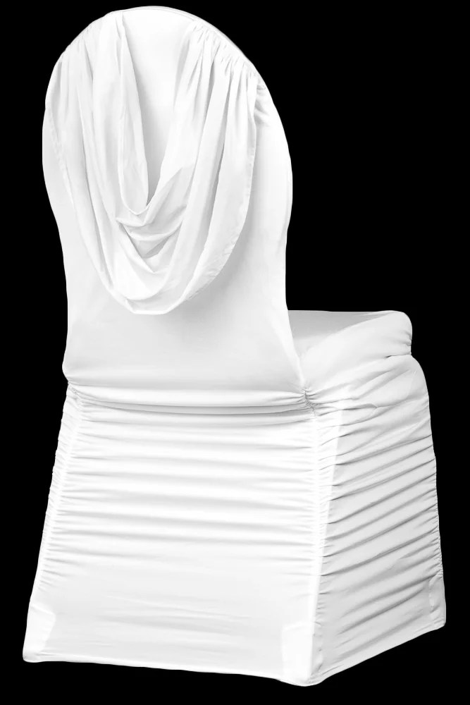 ruched chair covers childrens table and chairs kijiji swag back spandex banquet cover white walmart com