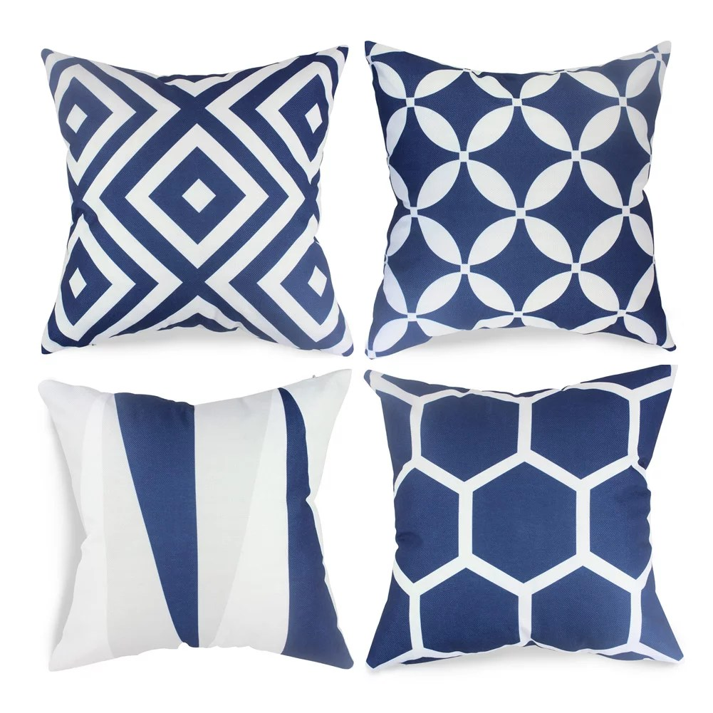 pillow covers for living room ikea inspiration fabricmcc set of 4 geometric decorative couch throws cases cushion 18 x