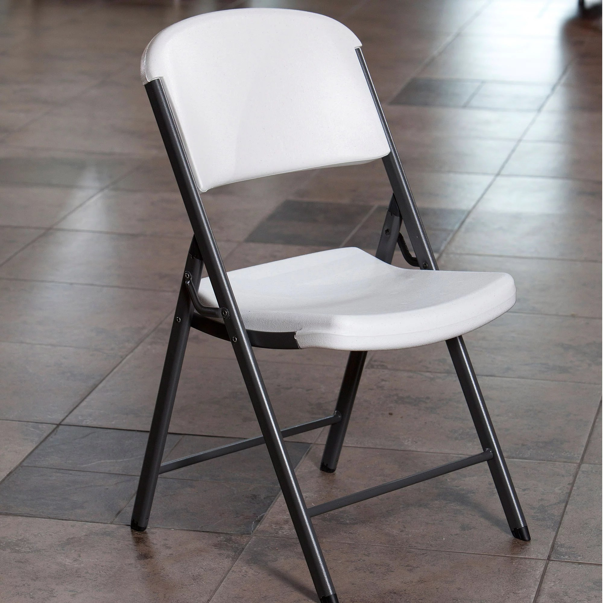 Lifetime Chair Mainstays Steel Folding Chair Black