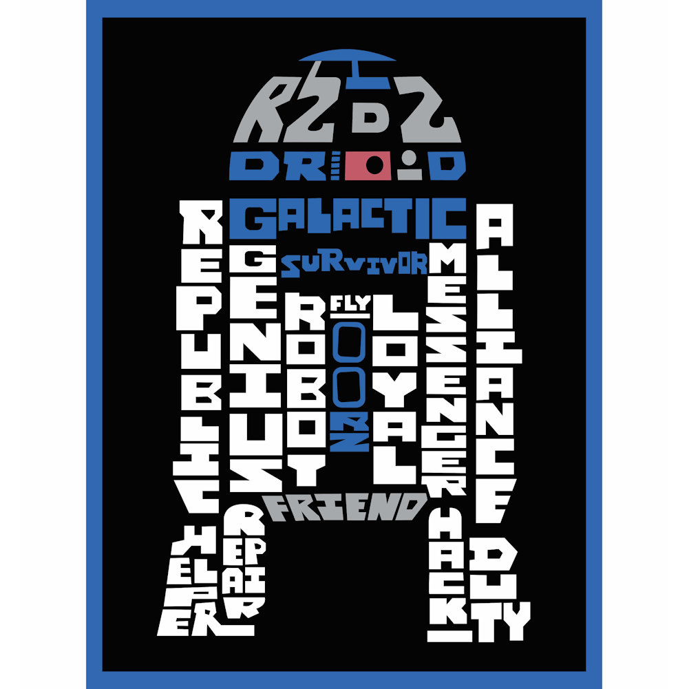 Star Wars Typography Canvas Print