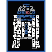 "Star Wars Typography Canvas Print - R2D2 - 8"" x 10 ..."