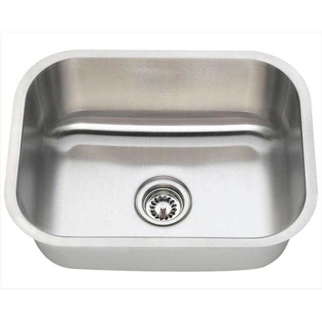 ss kitchen sinks toys r us kitchens mr direct 2318 16 single bowl stainless steel sink
