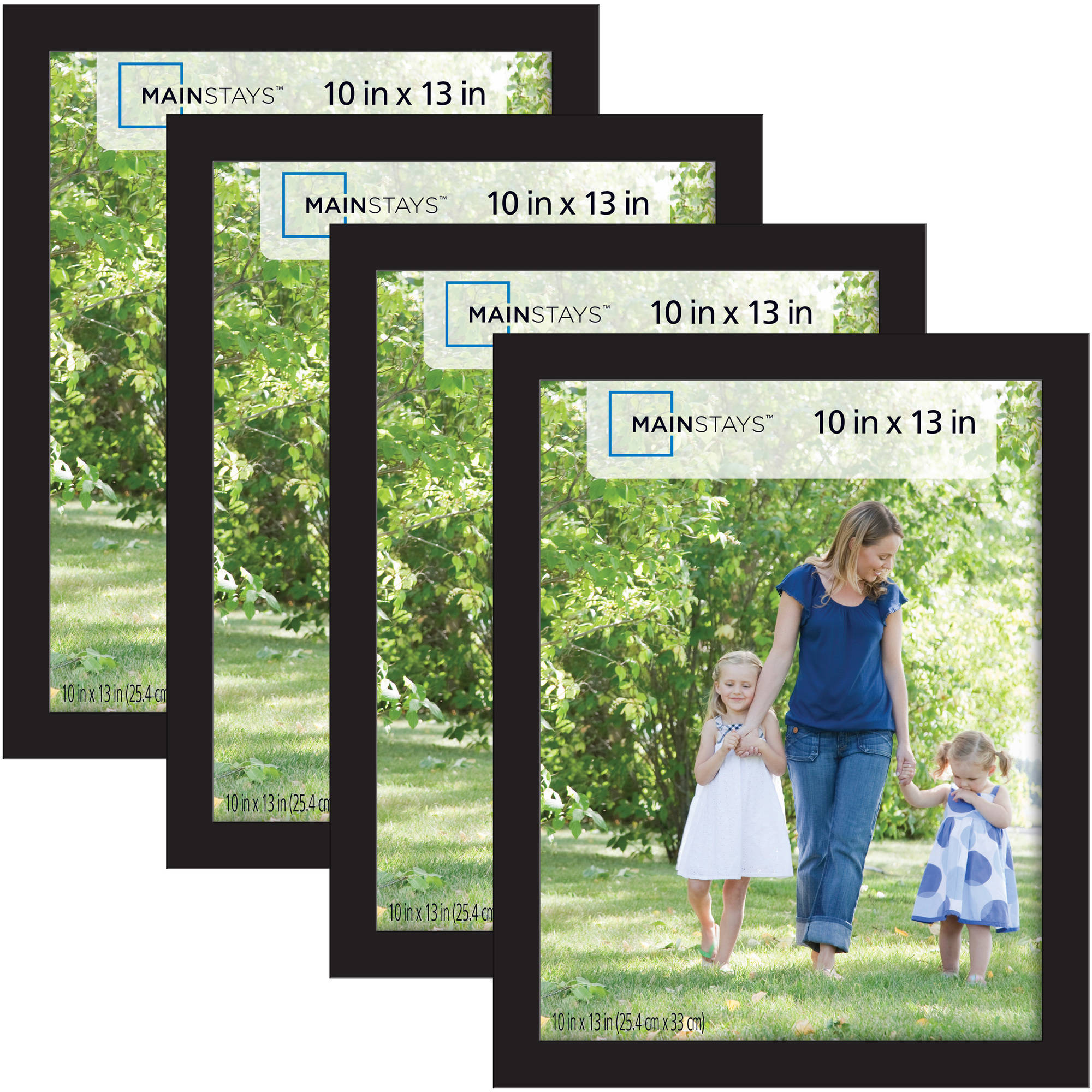 Mainstays 10x13 Picture Frames Black 4Pack  Walmartcom