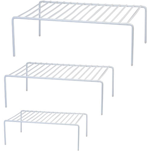 mainstays 3 piece wire shelves white