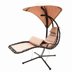Hammock Chair Stand Adjustable White Armless Office Naturefun With Arc Canopy Beige Walmart Com