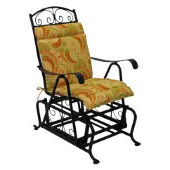 Rocking Chair Ottoman Cushions Chairs Walmart Blazing Needles Outdoor Glider Hinged Seat Amp Back Cushion Com