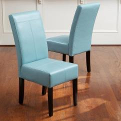 Teal Colored Chairs Stressless Recliner Uk Christopher Knight Home T Stitch Blue Leather Dining Set Of 2 Walmart Com