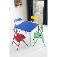 Cosco Kid's 5 Piece Folding Chair and Table Set - Walmart.com