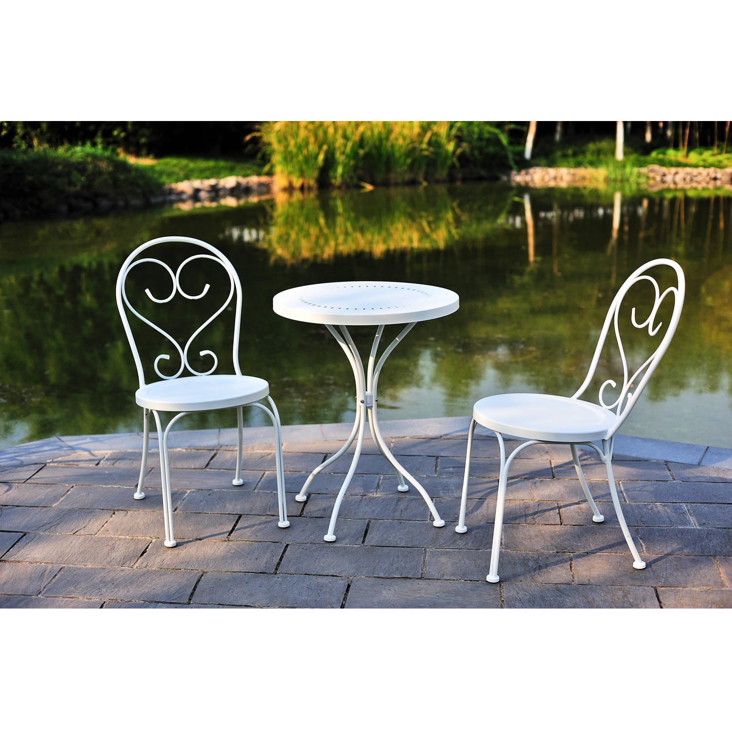 Metal Bistro Table And Chairs Mainstays 3 Piece Small Space Scroll Outdoor Bistro Set Seats 2