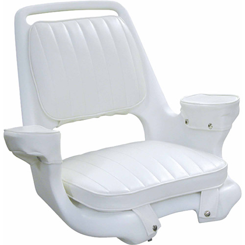 boat captains chair marais knock off wise captain s package with cushion set and mounting plate white walmart com