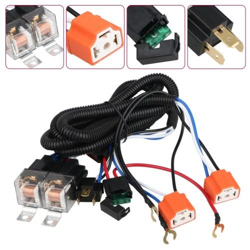 small resolution of  harness h6054 h4 socket plugs 9003 headlamp light bulb ceramic socket plugs relay harness kit for 7 x6 5 x7 led headlight 1995 1997 toyota tacoma