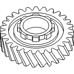 70240940 New 3rd Gear with 27/8 Teeth Made To Fit Allis