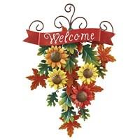 Sunflower Welcome Door Decor - Walmart.com