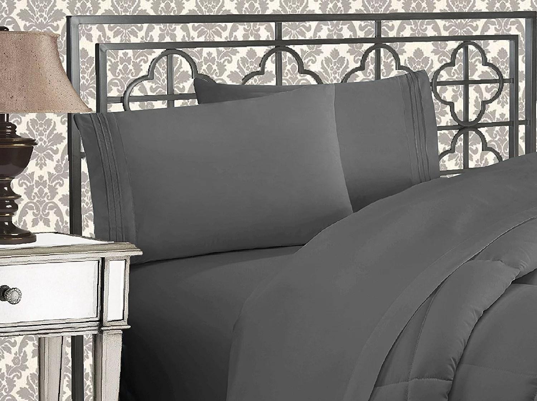 clearance super soft 1500 tc sheet set california king grey