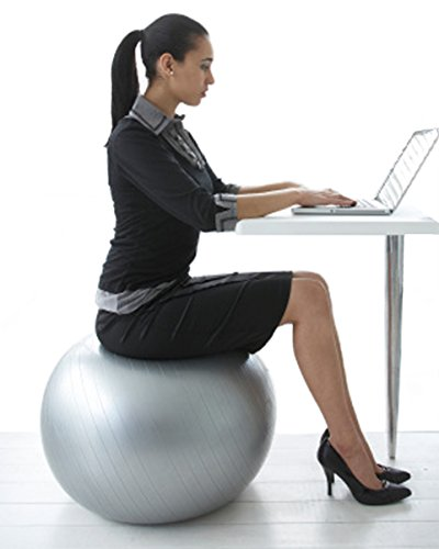 ball chair for office z line executive 2 physio perfect fitness and improved posture walmart com