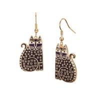 Laurel Burch - Laurel Burch Indigo Cats Dangle Earrings ...