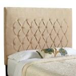 Mozaic Company Humble Haute Halifax Velvet Sand Tall Diamond Tufted Upholstered Headboard Tan Full Walmart Com Walmart Com