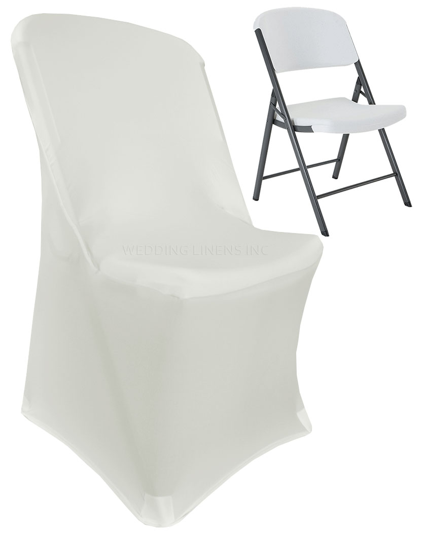 chair covers ivory steel mrp wedding linens inc lifetime spandex stretch fitted folding party decoration cover walmart com