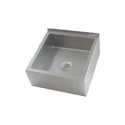 um series 23x23 stainless steel floor mount mop sink