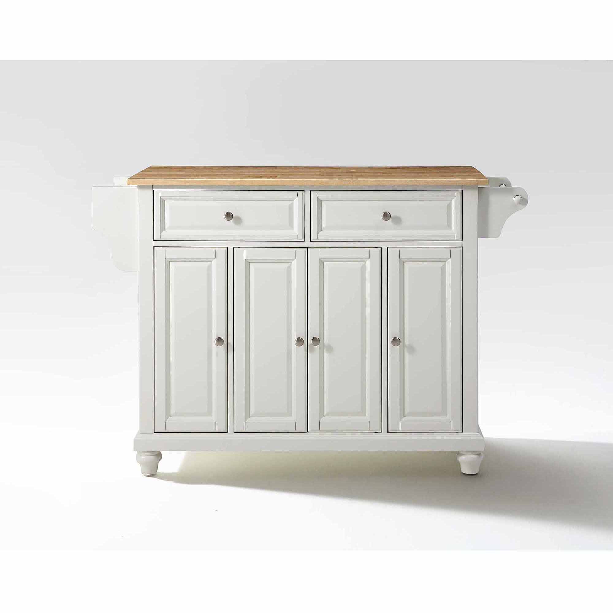 crosley kitchen island lowes cabinet knobs furniture cambridge natural wood top walmart com