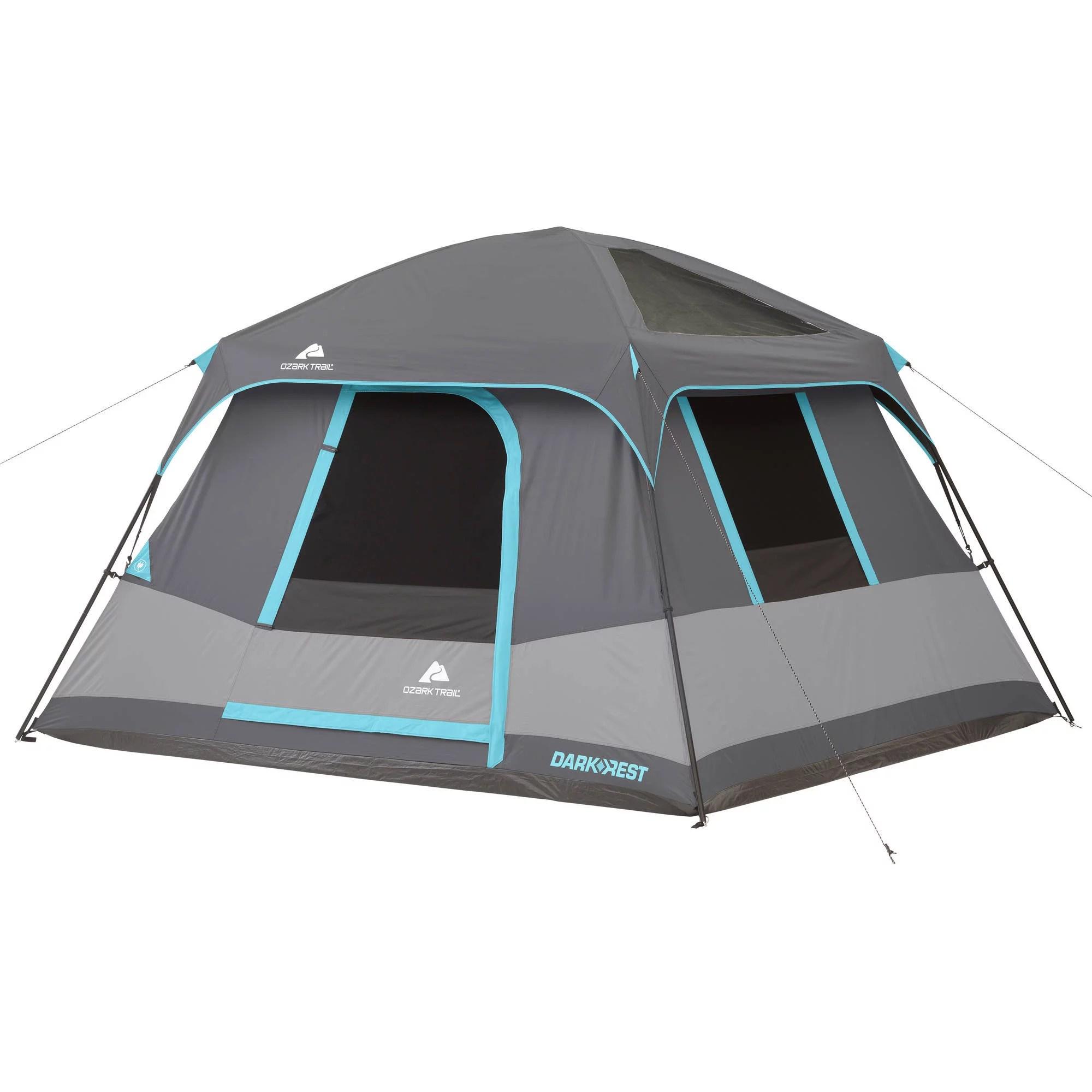 Ozark Trail 10' x 9' Dark Rest Frp Cabin Tent, Sleeps 6