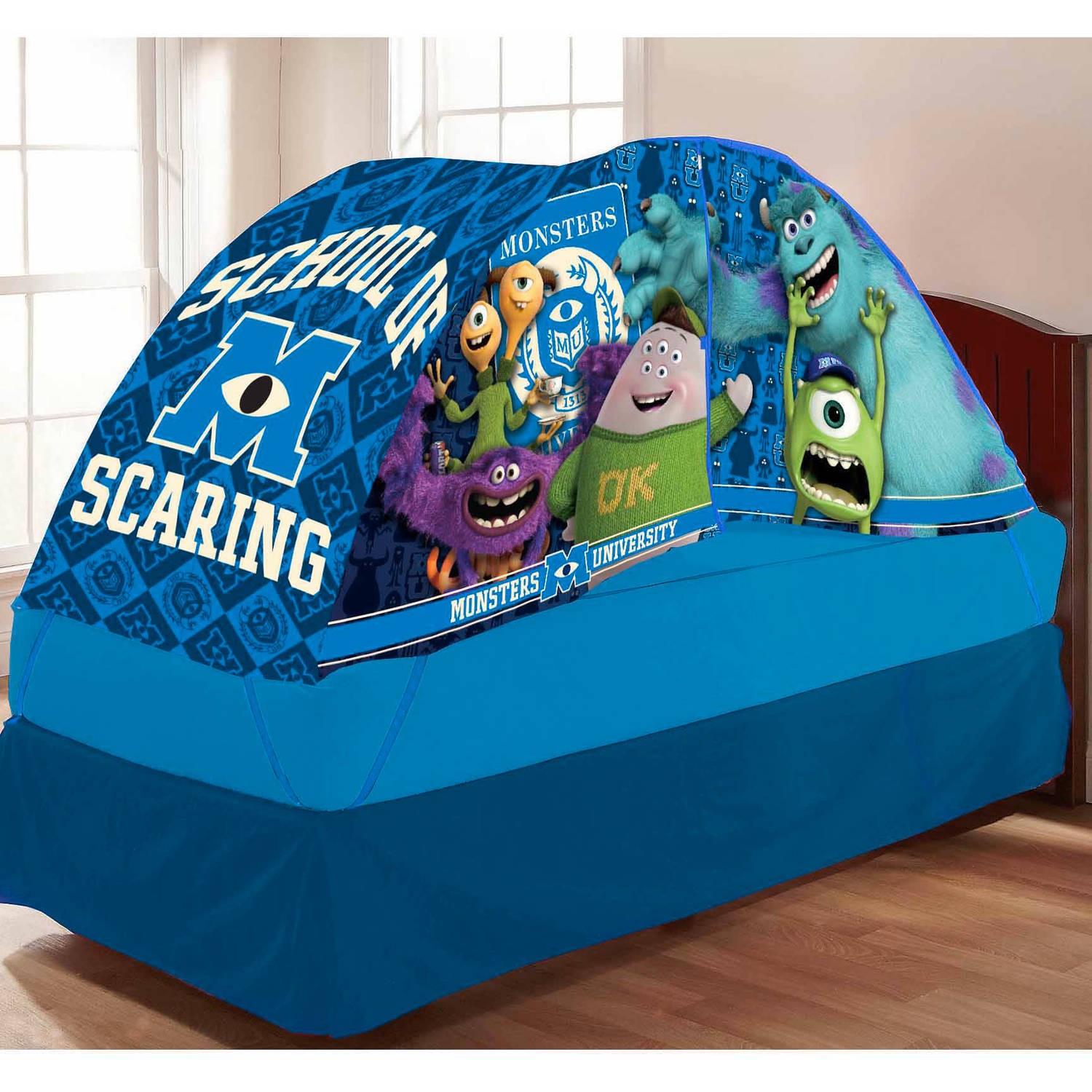 Monster S University Bed Tent With Pushlight Walmart Com