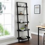 Mainstays 70 5 Shelf Leaning Ladder Bookcase Espresso