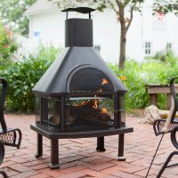 Red Ember Wellington 4 ft. Fireplace with FREE Cover ...