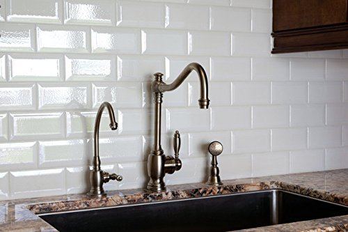 white crackled bevelled 3x6 subway tile backsplash kitchen walls countertop bathroom herringbone ceramic tile sample