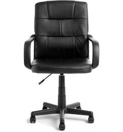 mainstays tufted leather mid back office chair multiple colors walmart com [ 2000 x 2000 Pixel ]