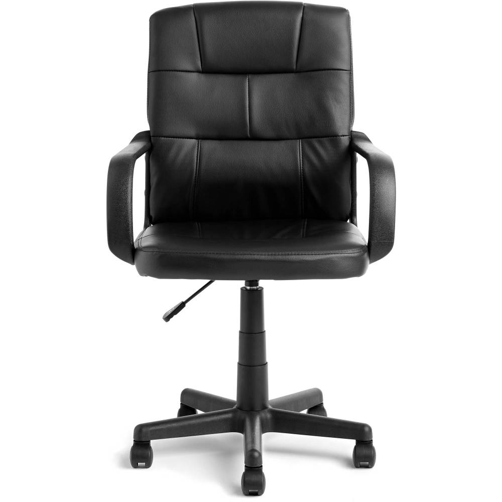 medium resolution of mainstays tufted leather mid back office chair multiple colors walmart com