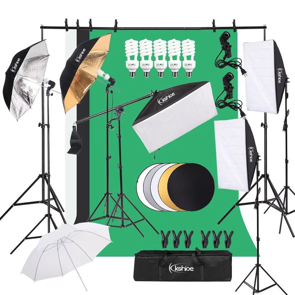 ktaxon 30pcs photo studio photography lighting kit umbrella softbox backdrop stand set walmart com