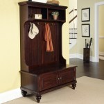Homestyles Bermuda Traditional 8 Hook Hall Tree With Cubbies And Storage Bench Beige Walmart Com Walmart Com