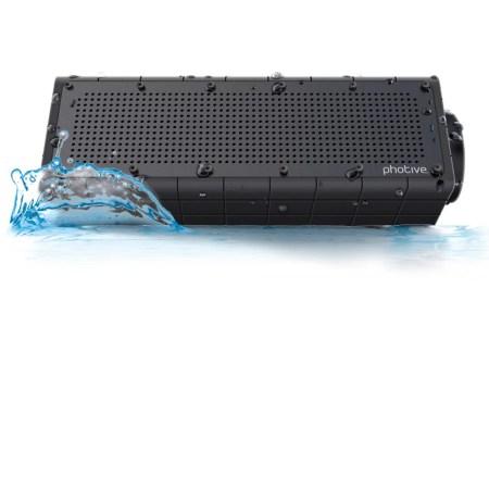Photive HYDRA Waterproof Wireless Bluetooth Speaker. Rugged Shockproof and Waterproof Portable Wireless Speaker