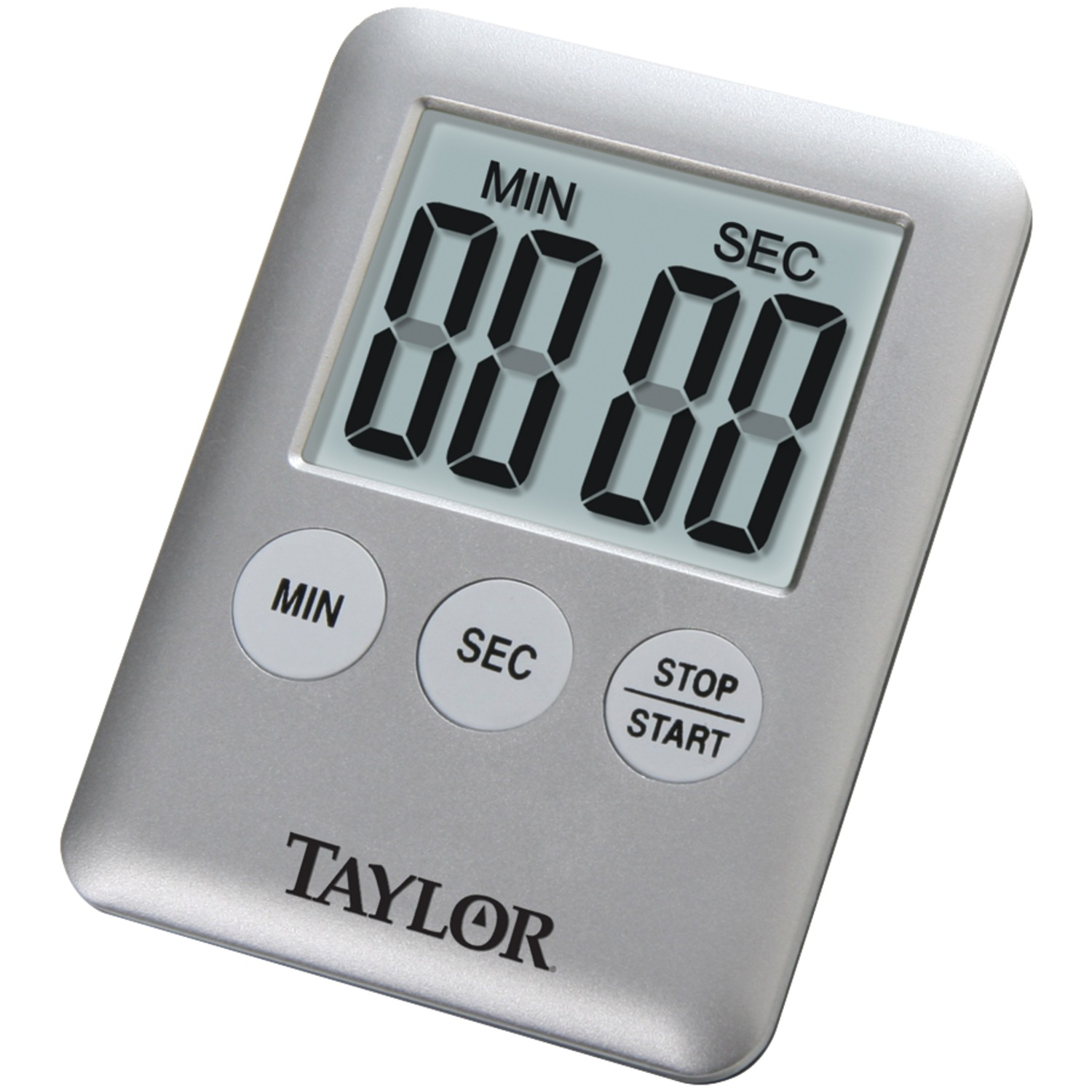 taylor kitchen timer frosted glass for cabinet doors precision products 5842 9 mini digital walmart com