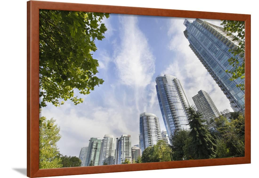 Vancouver Bc Downtown Waterfront Condominiums Framed Print