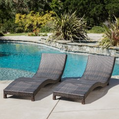 Wicker Chaise Lounge Chairs Outdoor Round Chair Base Ellington Brown Set Of 2 Walmart Com