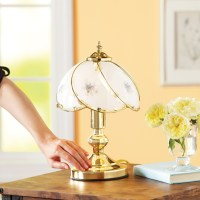 Better Homes and Gardens Floral Glass Shade Touch Lamp ...