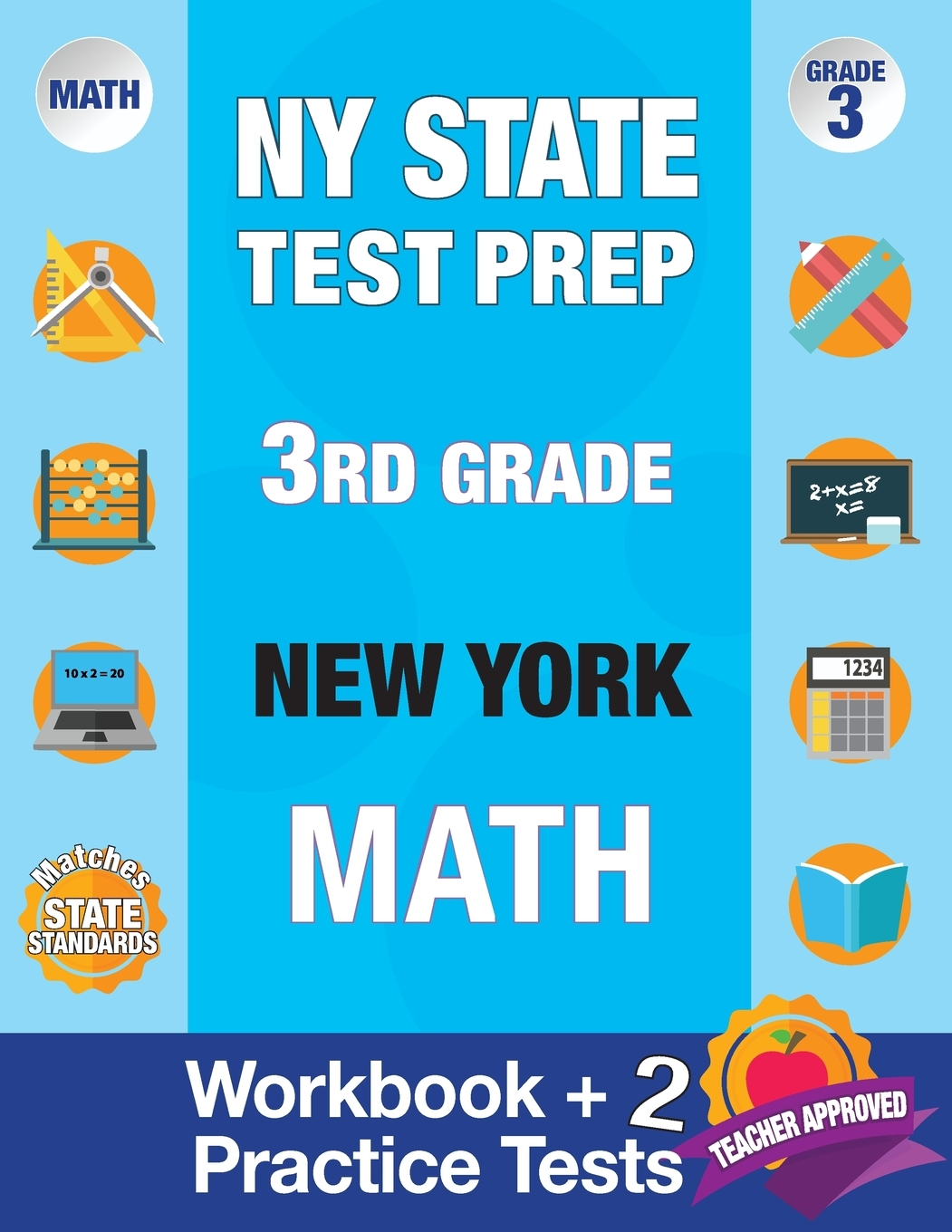 hight resolution of NY State Test Prep 3rd Grade New York Math : Workbook and 2 Practice Tests: New  York 3rd Grade Math Test Prep