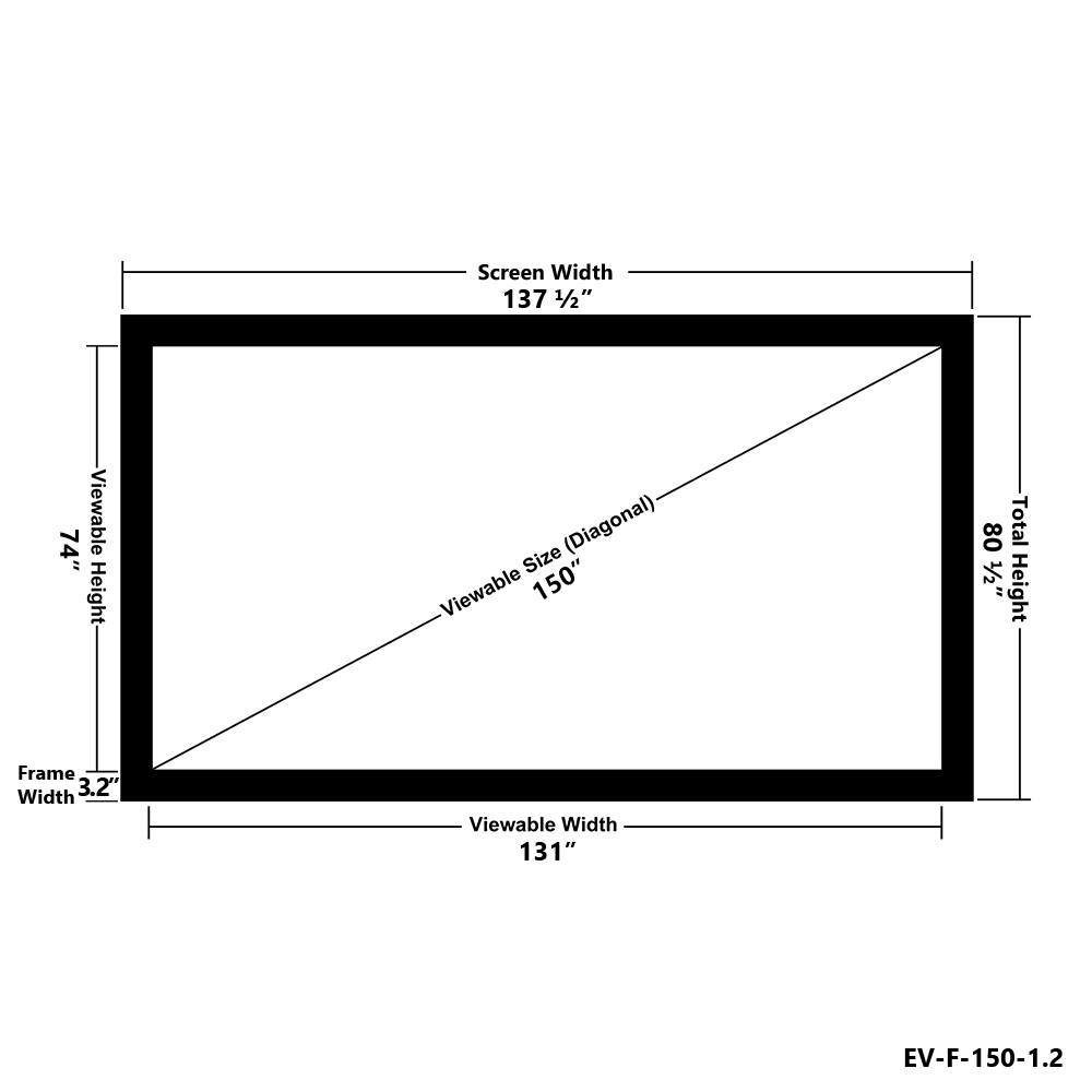 small resolution of elunevision elara 150 1 2 gain fixed frame projector screen walmart canada