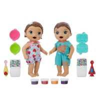 Baby Alive Snackin' Twins Luke and Lily -Brunette hair