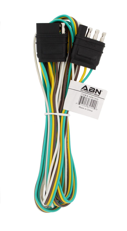 medium resolution of abn 1909 4 way 4 pin plug 20 gauge trailer light wiring harness extension 8ft walmart com