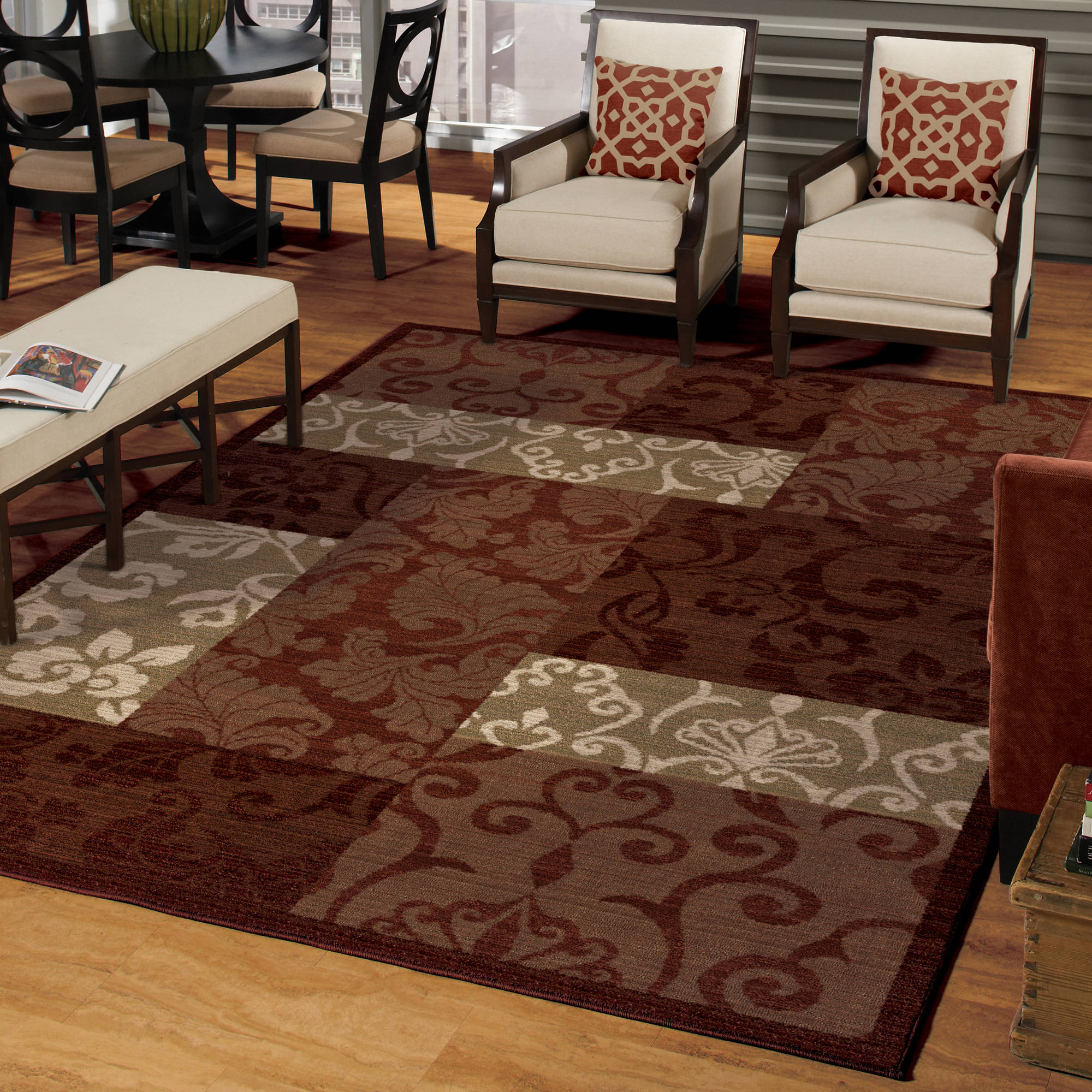 walmart rugs for living room large rustic wall decor better homes and gardens scroll patchwork area rug or runner departments